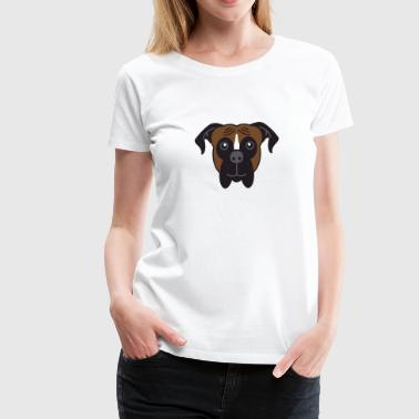 Lover Boxer Dog Breed Face - Women's Premium T-Shirt