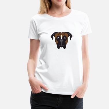 Dog Breed Boxer Dog Breed Face - Women's Premium T-Shirt