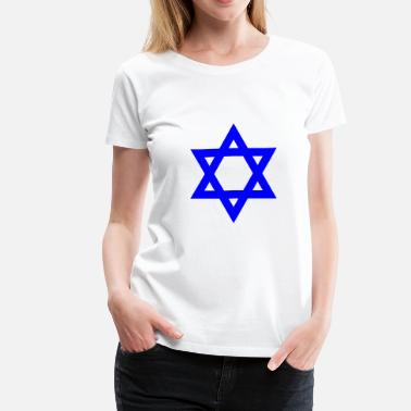 Star Of David Blue Star of David symbol - Women's Premium T-Shirt