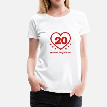 20th Anniversary Marriage Mariage Wedding Anniversary 20 20th China - Women's Premium T-Shirt
