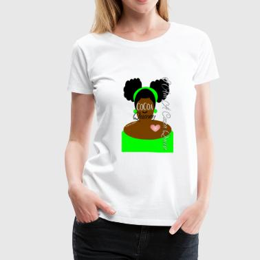 Double Puff Cocoa Queen Lime Green - Women's Premium T-Shirt