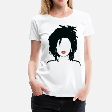 Dreads Locs & Lipstick_Global Couture Hoodies - Women's Premium T-Shirt