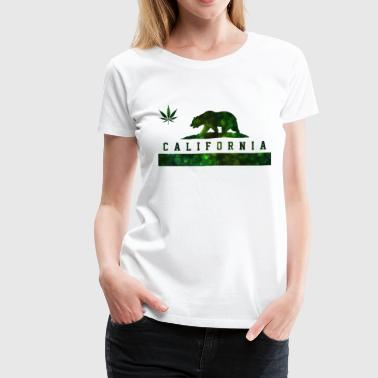 California Flag California California Designs California Cannabis - Weed Marijuana Flag Bear - Women's Premium T-Shirt