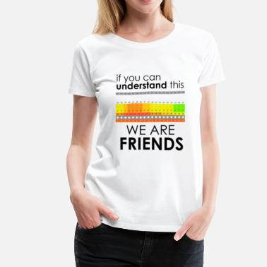 Kiteboard We Are Friends - Women's Premium T-Shirt