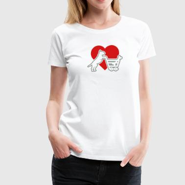 Shoppin´ Bull Terrier LUV - Women's Premium T-Shirt