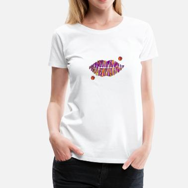 Lip Print lips - Women's Premium T-Shirt