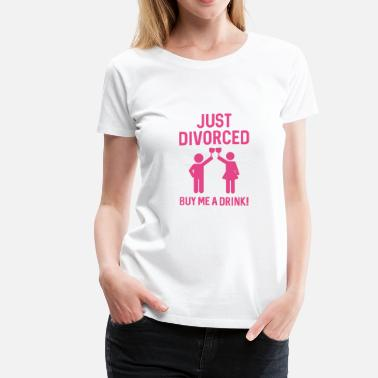 Divorce Just Divorced - Women's Premium T-Shirt