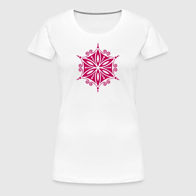 Flower of Aphrodite, c, Symbol of  love, beauty and transformation, Power Symbol, Talisman - Women's Premium T-Shirt