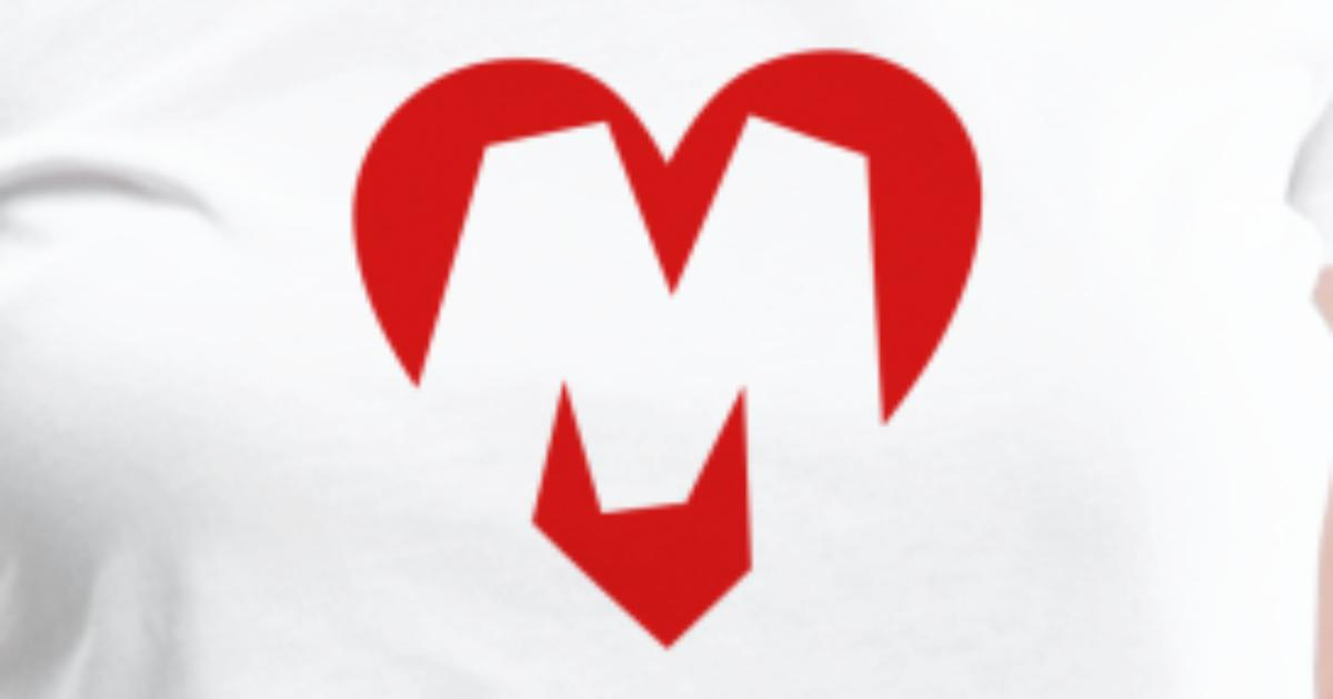 M Letter In Heart I love M - Hear...