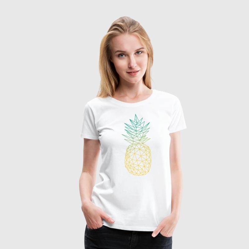 Geometric Pineapple 3 - Women's Premium T-Shirt