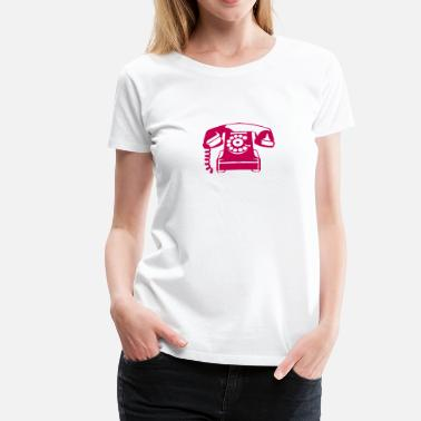 Old Phone old pink phone telephone 606 - Women's Premium T-Shirt