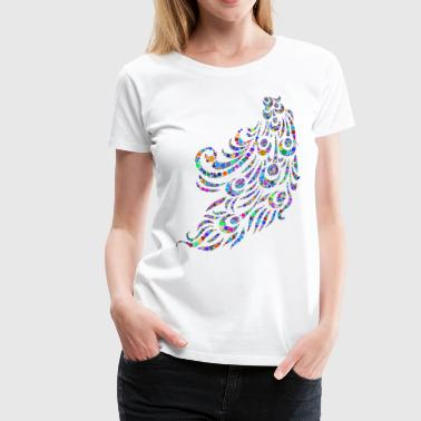 Peacock Feather - Women's Premium T-Shirt