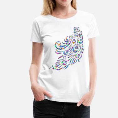 Peacock-feather Peacock Feather - Women's Premium T-Shirt