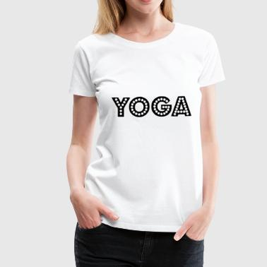 yoga wording - Women's Premium T-Shirt