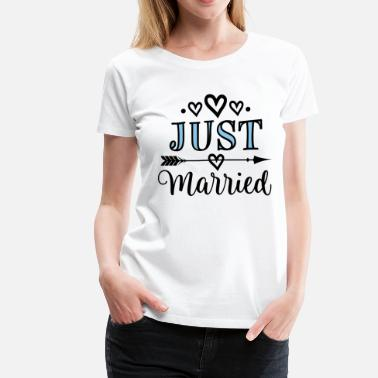 432a8696b Wedding Just Married Honeymoon Gift - Women's Premium T-Shirt
