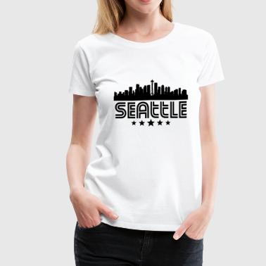 Seattle Skyline Retro Seattle Skyline - Women's Premium T-Shirt