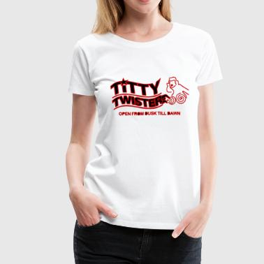 Cartoon Titties Titty Twister - Women's Premium T-Shirt