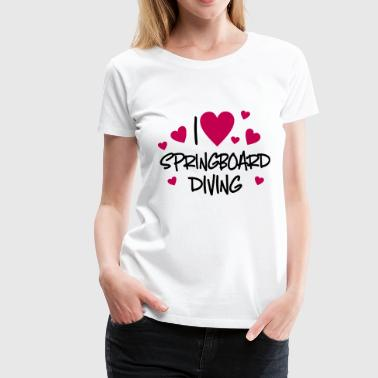 springboard diving - Women's Premium T-Shirt