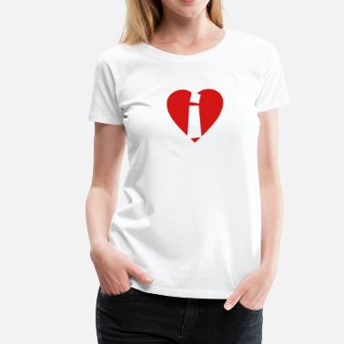I Was There Heart i - I love i - Letter i - Women's Premium T-Shirt