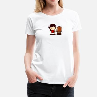 Japanese Drumming Matsuri Taiko Girl - Women's Premium T-Shirt