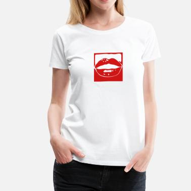 Luscious luscious lip mouth 1 - Women's Premium T-Shirt