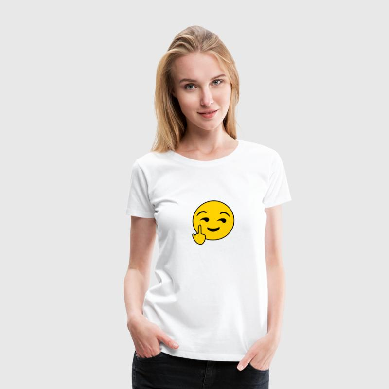 Fuck You Emoticon - Women's Premium T-Shirt