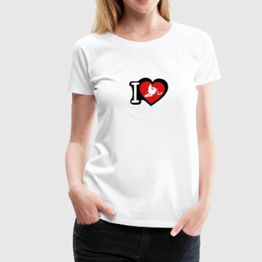 love heart snowbike 302 - Women's Premium T-Shirt