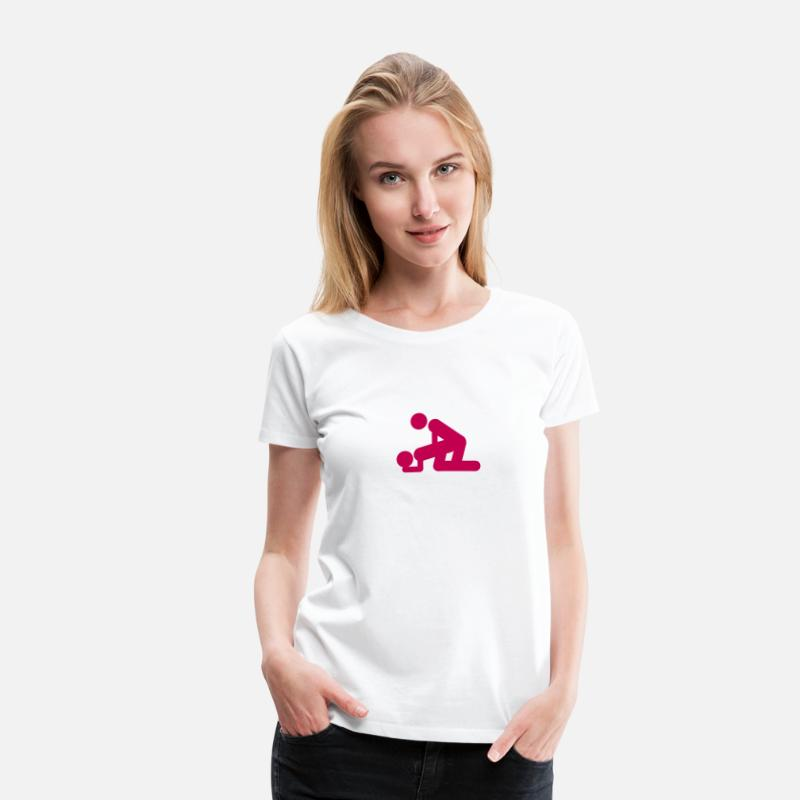 Love T-Shirts - make love sex symbol icon 801 - Women's Premium T-Shirt white