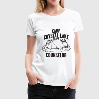 Friday The 13th Kids Camp Crystal Lake Counselor Friday The 13Th Retro - Women's Premium T-Shirt