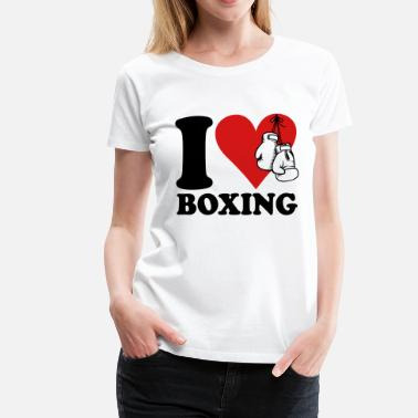 I Love Kick Boxing I love boxing - Women's Premium T-Shirt