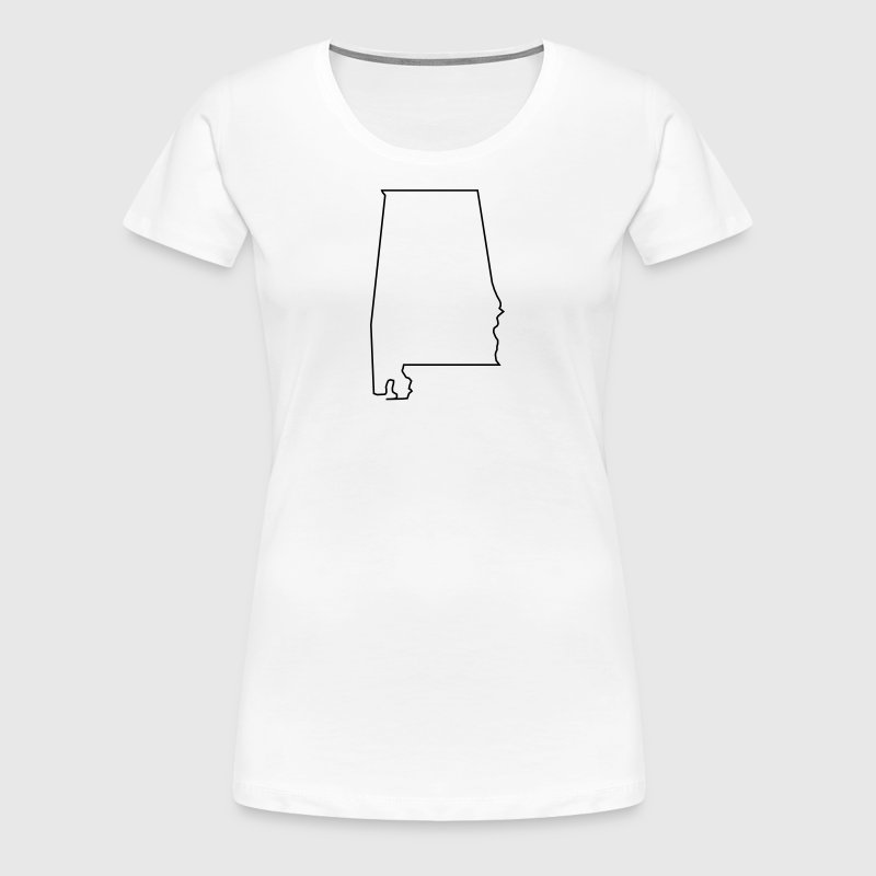 Alabama,map,landmap,land,country,outline - Women's Premium T-Shirt