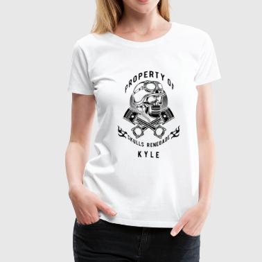 Kyle Kyle Skulls Renegade MC - Black - Women's Premium T-Shirt
