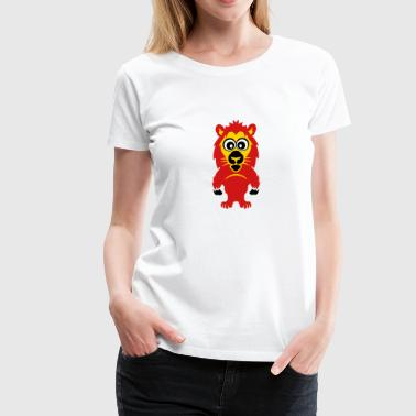 lion animals child drawing 811 - Women's Premium T-Shirt
