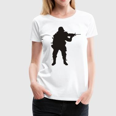 Army Sniper Funny Army Sniper Silhouette - Women's Premium T-Shirt