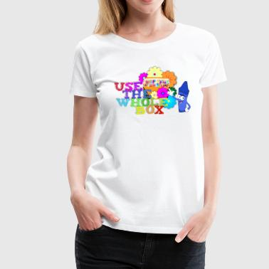 Scribble in Every Color - Women's Premium T-Shirt