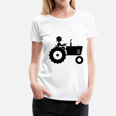 Pictogram Farmer (dd)++2014 - Women's Premium T-Shirt