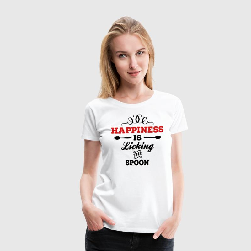 Happiness is licking the spoon - Women's Premium T-Shirt