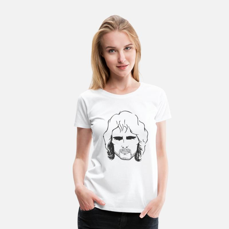 Patrick T-Shirts - Patrick Swayze, Point Break - Women's Premium T-Shirt white
