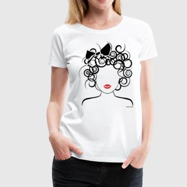 Global Couture Global Couture logo_curly girl Accessories - Women's Premium T-Shirt