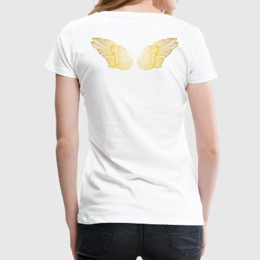 Golden Angel Baby Angel Wings - Gold - Women's Premium T-Shirt