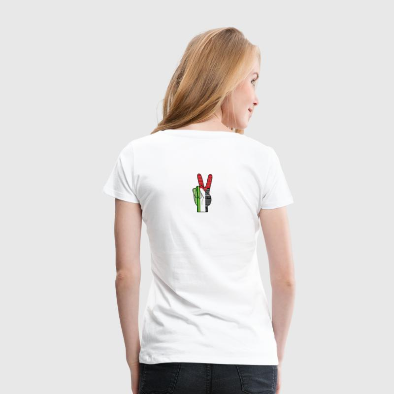 Peace for Palestine Tribal - Women's Premium T-Shirt