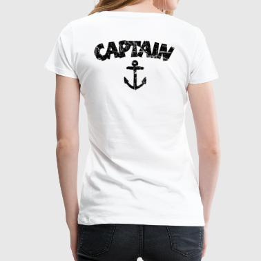 Captain Anchor Vintage Black - Women's Premium T-Shirt