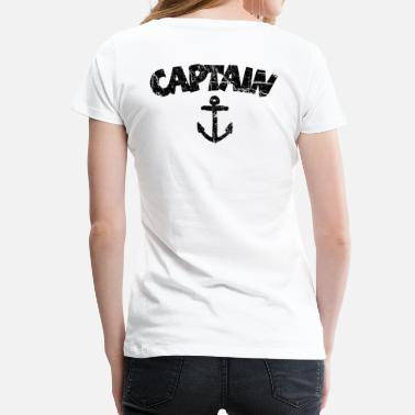 Vintage Ships Anchor Captain Anchor Vintage Black - Women's Premium T-Shirt