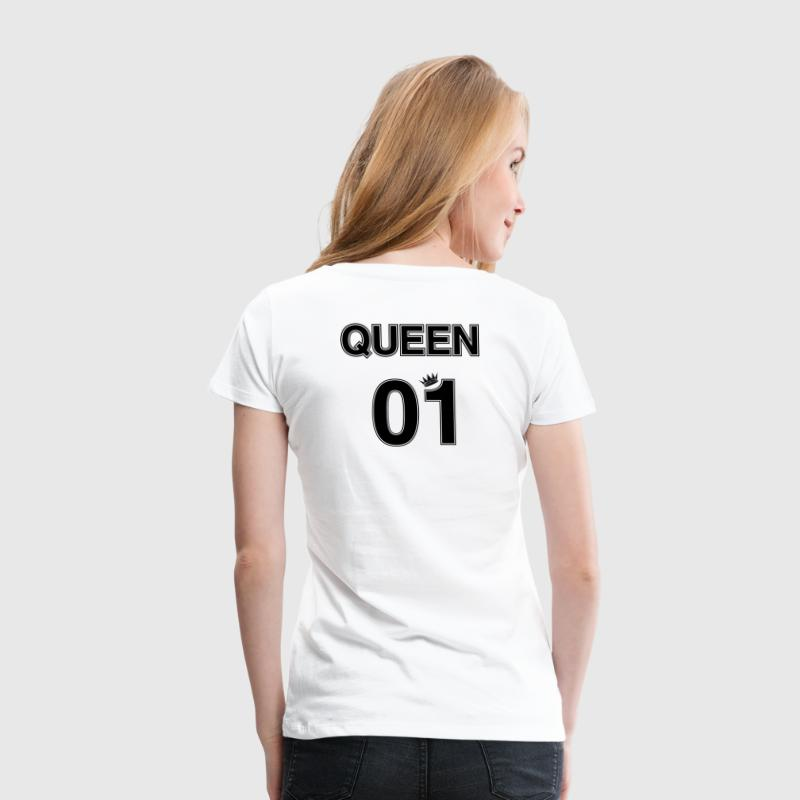Couple Tshirt Queen 01 with Crown - Women's Premium T-Shirt