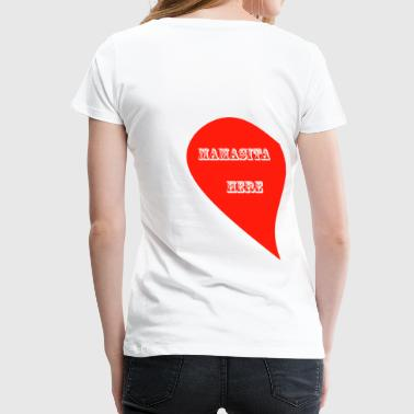 LOVE IS IN THE AIR - 1 LEFT SIDE - Women's Premium T-Shirt