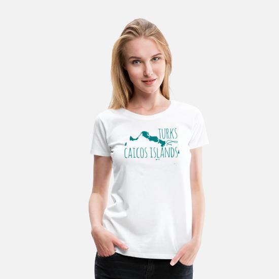 Islands T-Shirts - Turks and Caicos - Women's Premium T-Shirt white