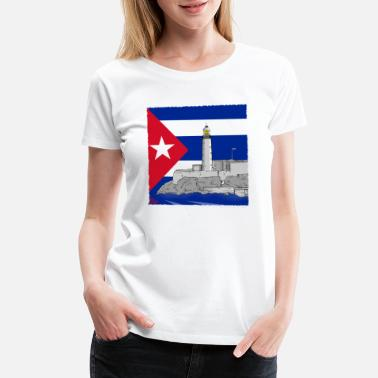 Del Castillo Cuba Havana lighthouse - Women's Premium T-Shirt