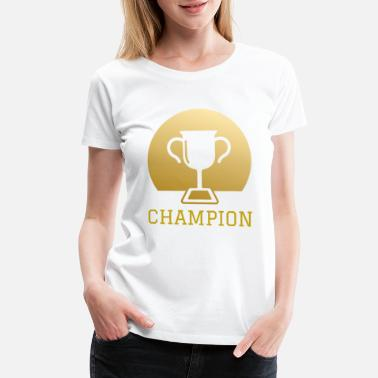 Halftime Football Sports Hobby Leisure Gift Champion - Women's Premium T-Shirt