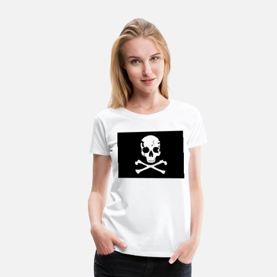 Pirate Flag T-Shirts - Pirate, Pirat Flag - Women's Premium T-Shirt white
