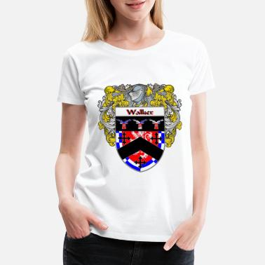 Family Crest wallace_coat_of_arms_mantled - Women's Premium T-Shirt